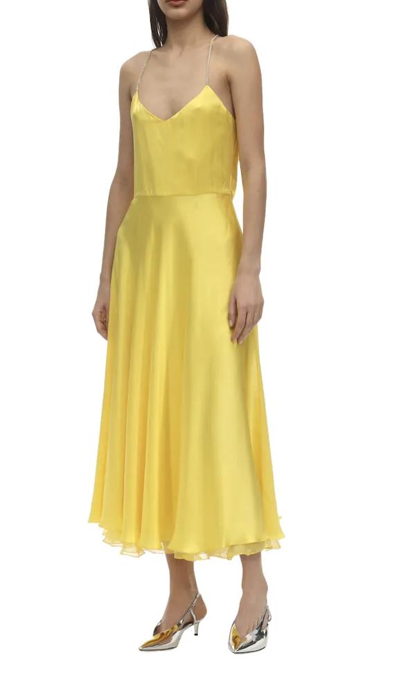 abito per pera giallo