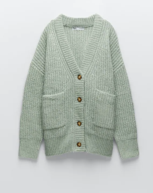 cardigan zara color menta