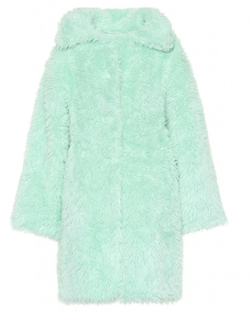 pelliccia balenciaga verde